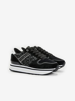 Tommy Hilfiger černé tenisky na platformě Metallic Flatform Sneaker