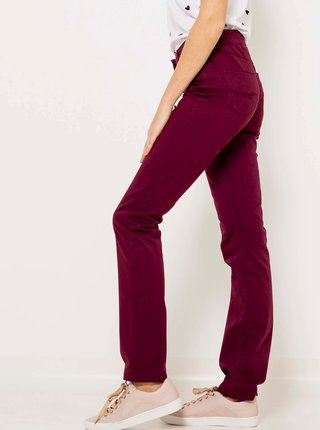 Nohavice pre ženy CAMAIEU - vínová