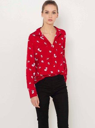 Červená vzorovaná košile CAMAIEU
