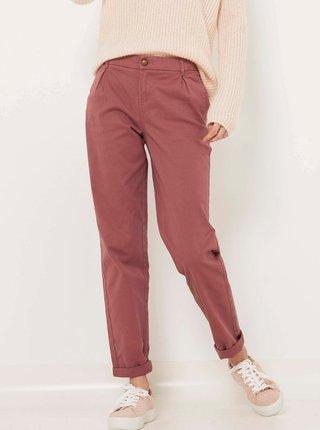 Starorůžové chino kalhoty CAMAIEU