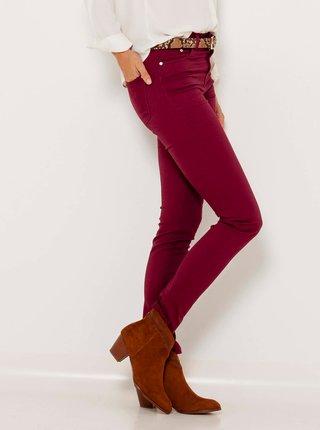 Vínové skinny fit džíny CAMAIEU