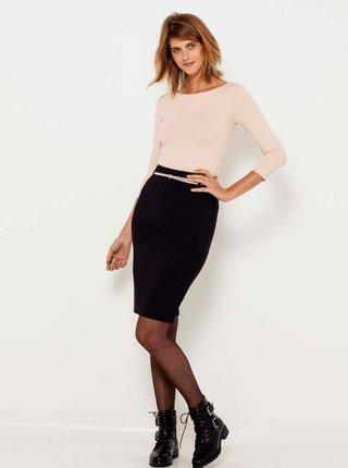 Tričká s dlhým rukávom pre ženy CAMAIEU - svetloružová