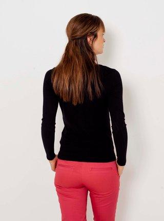 Černý lehký svetr s véčkovým výstřihem CAMAIEU