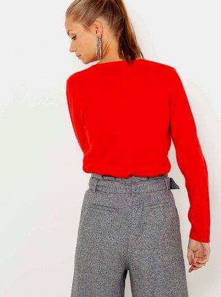 Červený kašmírový svetr CAMAIEU
