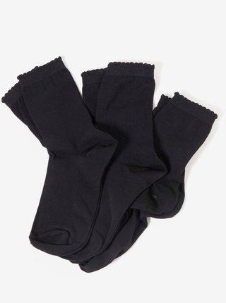 Sada tří párů černých ponožek CAMAIEU