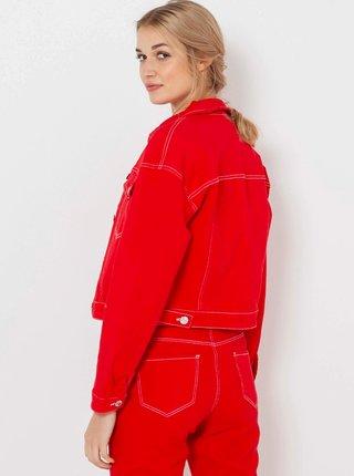 Červená džínová bunda CAMAIEU