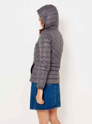 Šedá zimní prošívaná péřová bunda CAMAIEU