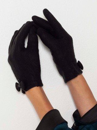Čierne rukavice s mašľou CAMAIEU