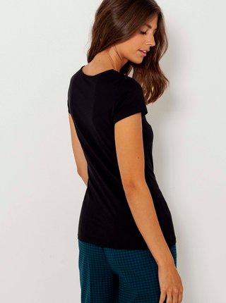 Černé tričko CAMAIEU