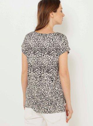 Béžová halenka s leopardím vzorem CAMAIEU