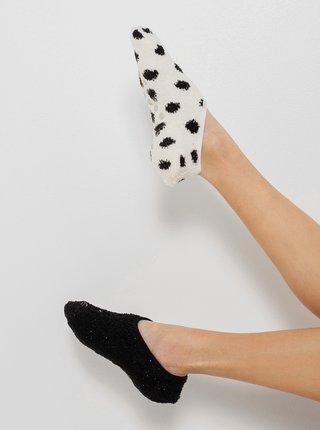 Černo-bílé vzorované ponožky CAMAIEU