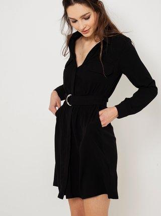 Černé šaty s páskem CAMAIEU