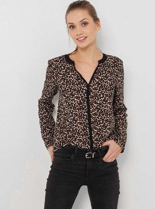 Černá halenka s leopardím vzorem CAMAIEU
