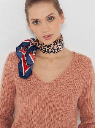 Modrý šátek s leopardím vzorem CAMAIEU