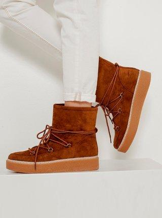 Zimná obuv pre ženy CAMAIEU - hnedá