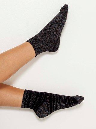 Ponožky pre ženy CAMAIEU - tmavosivá, čierna