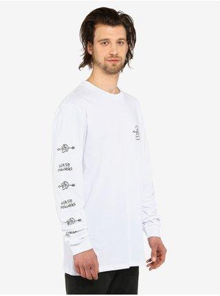 Horsefeathers SHAFT white pánské triko s dlouhým rukávem - bílá