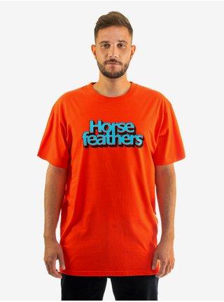 Horsefeathers MERCURY tomato red pánské triko s krátkým rukávem - červená