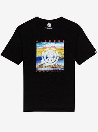 Element PEORIA FLINT BLACK pánské triko s krátkým rukávem - černá