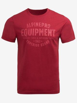 Pánské triko ALPINE PRO CAUDER červená