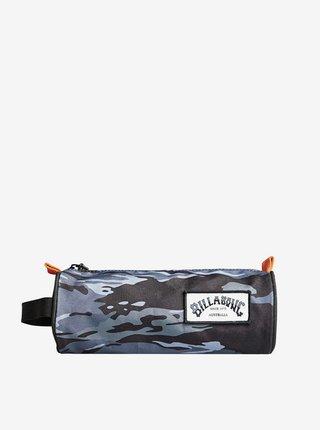 Billabong BARREL black camo penál do školy - modrá