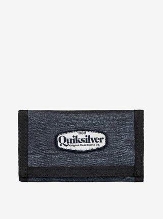 Quiksilver THE EVERYDAILY PATCH DARK GREY HEATHER dětská značková peněženka - černá