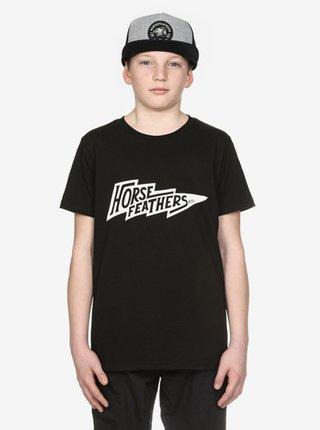 Horsefeathers FLASH black dětské triko s krátkým rukávem - černá