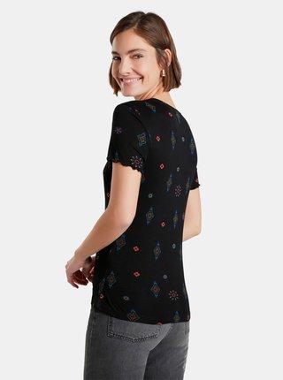 Černé dámské vzorované tričko Desigual Giupessa