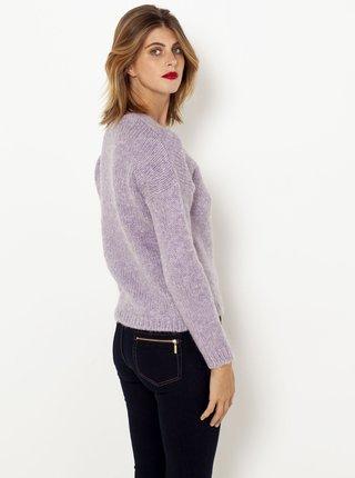 Svetlofialový sveter s prímesou ľanu CAMAIEU