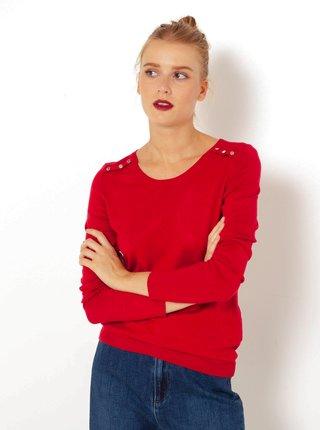 Červený ľahký sveter CAMAIEU
