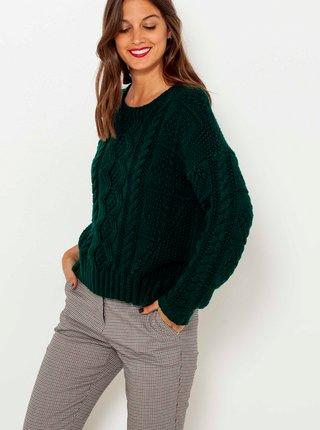 Tmavě zelený svetr CAMAIEU
