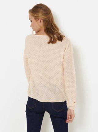 Svetloružový sveter CAMAIEU