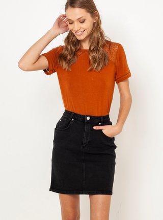 Čierna rifľová sukňa CAMAIEU