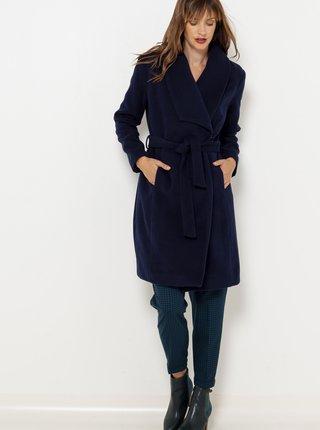 Tmavomodrý zimný kabát so zaväzovaním CAMAIEU
