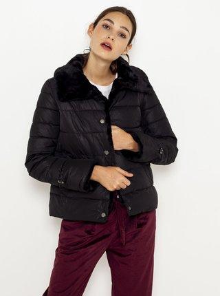 Černá zimní prošívaná bunda CAMAIEU