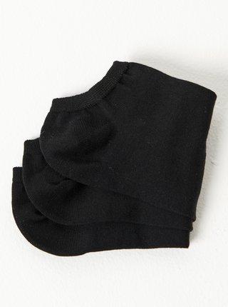 Sada troch čiernych nízkych ponožiek CAMAIEU