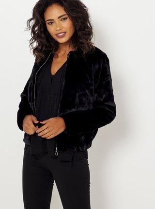 Černá krátká bunda z umělého kožíšku CAMAIEU