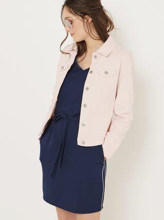 Světle růžová džínová bunda CAMAIEU