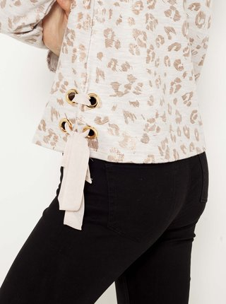 Biele tričko so zvieracím motívom CAMAIEU