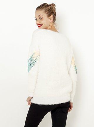 Biely sveter s flitrami CAMAIEU