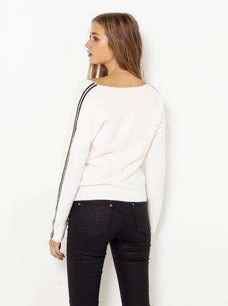 Biely sveter s pásom CAMAIEU