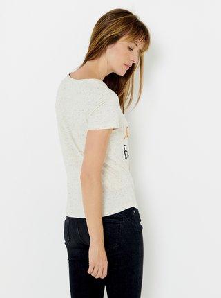Svetložlté tričko s potlačou CAMAIEU