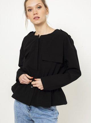 Černá lehká bunda se zavazováním CAMAIEU