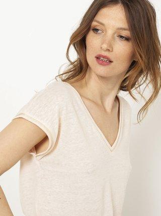 Tělové tričko s přísměsí lnu CAMAIEU