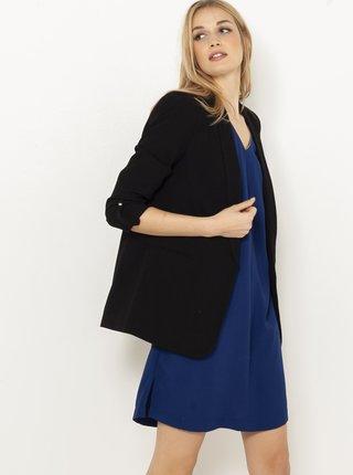 Černé sako s tříčtvrtečním rukávem CAMAIEU