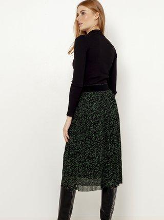 Tmavě šedá vzorovaná midi sukně CAMAIEU