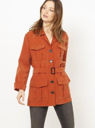 Cihlový krátký lehký kabátek CAMAIEU