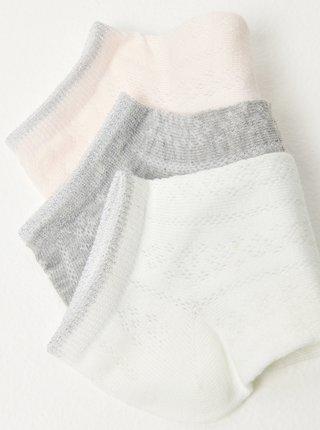 Sada 3 ponožiek CAMAIEU