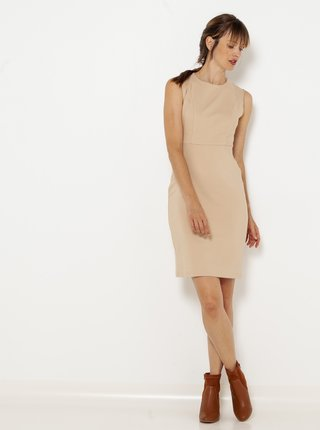 Béžové pozdrové šaty CAMAIEU