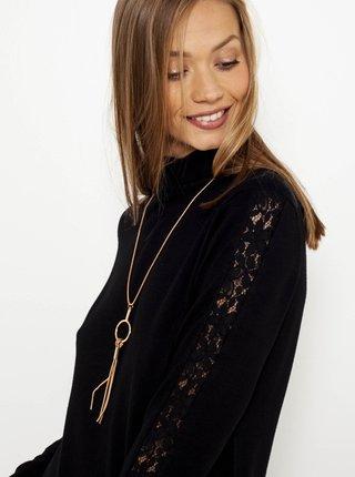 Černé svetrové šaty s rolákem CAMAIEU